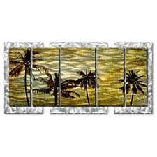 Ribbon Metal Wall Decor Michael Lang U0027nuetral Waves U0027 5 Piece Metal Art Free Shipping