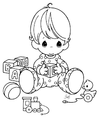 baby color pages baby colouring
