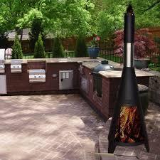 bbq patio images 120cm outdoor garden bbq chimenea patio heater comxuk