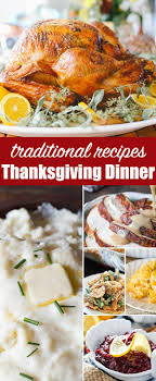 traditional thanksgiving dinner menu recipes turkey sides drinks
