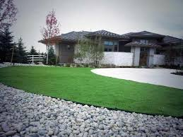 Artificial Landscape Rocks by Grass Carpet Sullivan Indiana Landscape Rock Commercial Landscape