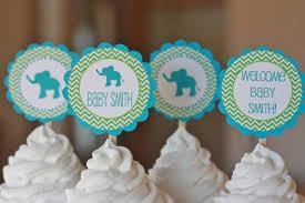 12 jungle elephant lion giraffe blue green baby shower or