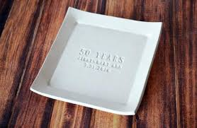 50th anniversary plate personalized wedding anniversary gifts beautiful one of a ceramic gifts