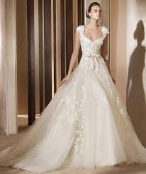 pronovias wedding dresses adela sleeveless lace and tulle wedding dress with a sweetheart