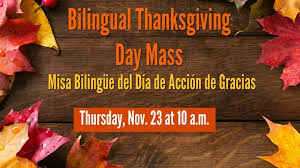 day mass misa dia de accion de gracias st aquinas