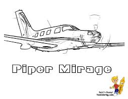 piper mirage airplane coloring picture print