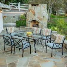 Mainstays Patio Furniture by Madison 7 Piece Patio Dining Set Seats 6 Gotta Have It