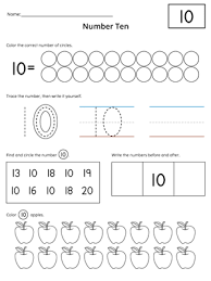 numbers 1 20 count and write activity set number worksheets