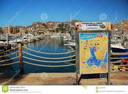 Cabo San Lucas Mexico Map by Cabo San Lucas Downtown Marina Editorial Stock Image Image 55957319