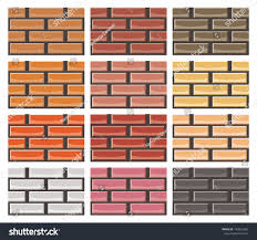 Different Wall Textures Set Brick Wall Textures Different Colors Stock Vector 142622965