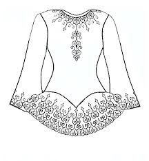 dress coloring pages 6850