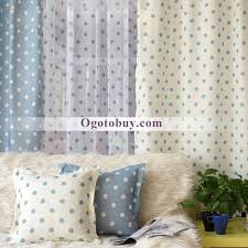 Grey And White Polka Dot Curtains Sweet Polka Dots White And Blue Room Curtains Buy Blue Kid Teen
