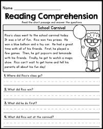 reading comprehension grade free grade reading comprehension passages set 1