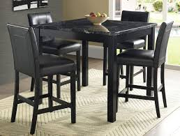 Marble Dining Room Tables Black Marble Dining Table And Chairs For Wonderful Impression