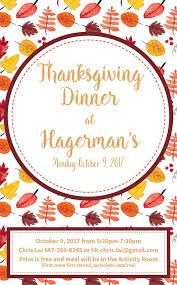 thanksgiving poster genereaux