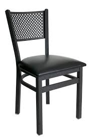 X Back Bistro Chair Metal Perforated Back Commercial Dining Chair Bar Restaurant