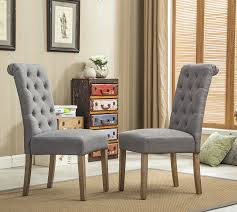 amazon com roundhill furniture habit grey solid wood tufted