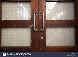 Interior Doors Ireland Locked Wooden Glass Reinforced Panel Interior Doors In An