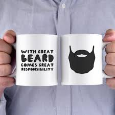 with great beard comes great responsibility funny mug gift for