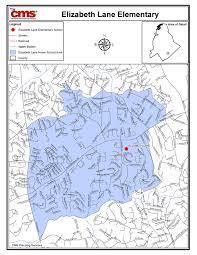 Charlotte Map Elizabeth Lane Elementary Boundary Map
