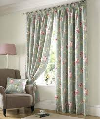 captivating floral accents window curtain design for bedroom with