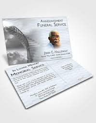 2 page grad fold funeral program template brochure stairway to