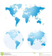 Earth Maps Vector Maps Of Earth Stock Image Image 2299761