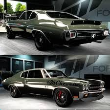 lowered muscle cars 70 chevelle becausess forza 6 using muscle cars front and rear