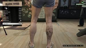 image tattoo gtav online male right leg indian ram jpg gta