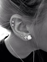 earring pierced the 25 best ear piercings ideas on ear peircings