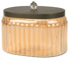 kitchen canisters glass decorative glass canister with hammered metal lid