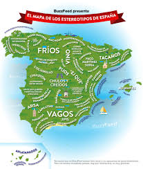 Espana Map Nuestro Mapa De Los Estereotipos Españoles Spain