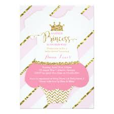 princess baby shower princess baby shower invitations announcements zazzle
