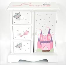 personalized jewelry box princess castle personalized musical jewelry box for