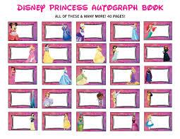 disney princess autograph book printable disney signature book