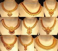 elegant gold necklace designs images Nine elegant simple gold necklace designs for south indian women jpg