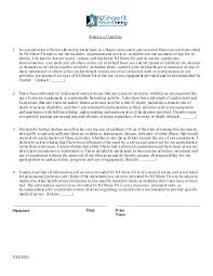 amazing generic liability waiver and release form gallery resume