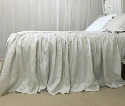 linen bedspread with ruffle fall handcrafted by superior