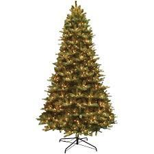 9 ft pre lit mixed balsam fir pe and pvc artificial