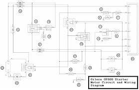 gp800 starter motor circuit and wiring diagram