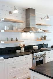 wood floating shelves kitchen blond wood floating kitchen shelves