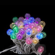 Colored Christmas Lights by Set Of 50 Led Pastel Multi Colored Glass G15 Berry Christmas