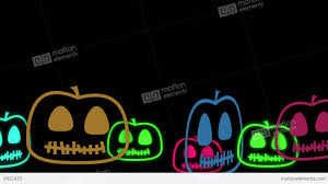 halloween pumpkins background halloween animated background with cute little neon pumpkins stock
