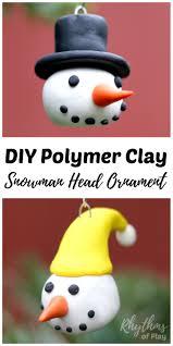 diy polymer clay snowman head ornaments polymers snowman and