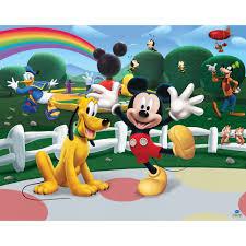 walltastic kiddicare walltastic disney mickey mouse clubhouse mural 8ft x 10ft sticker