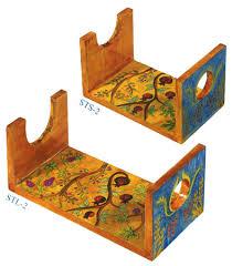 shofar stands wooden painted shofar stand