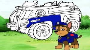 paw patrol chase police car coloring page youtube