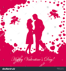 halloween background pink abstract background loving couple pink valentines stock vector