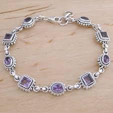 silver bracelet designs images Sterling silver amethyst bracelets designer silver inc jaipur jpg