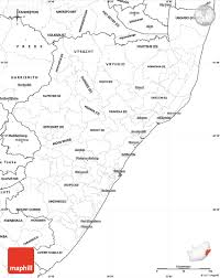 Blank Map Of North Africa by Blank Simple Map Of Kwazulu Natal